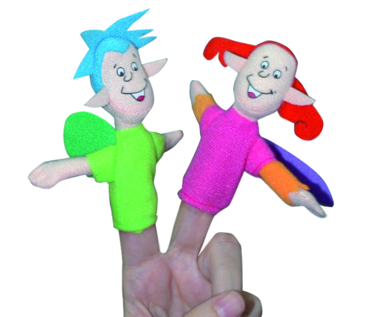 Footprints 1 Finger Puppets