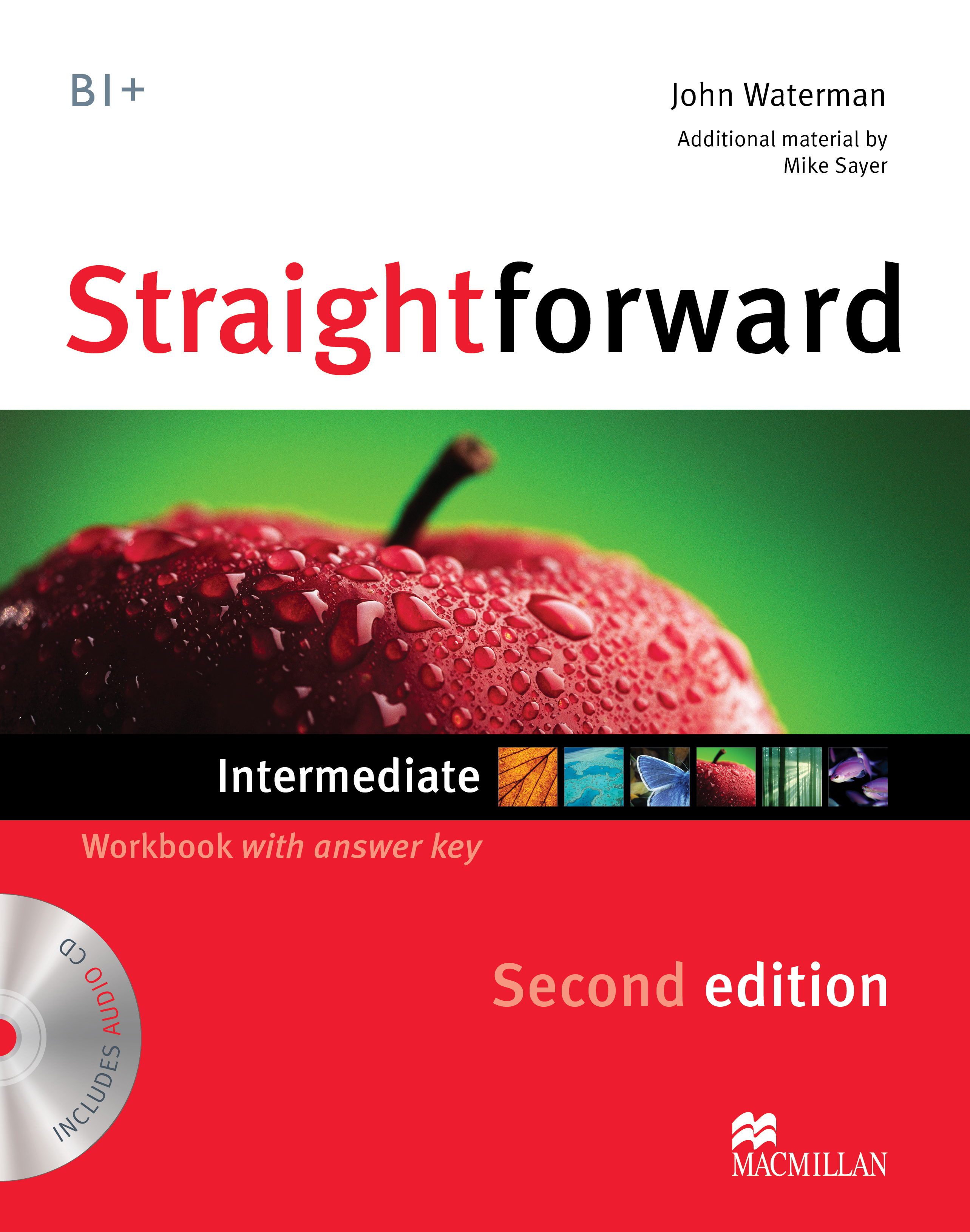 Straightforward Second Edition Intermediate Workbook + CD with Key