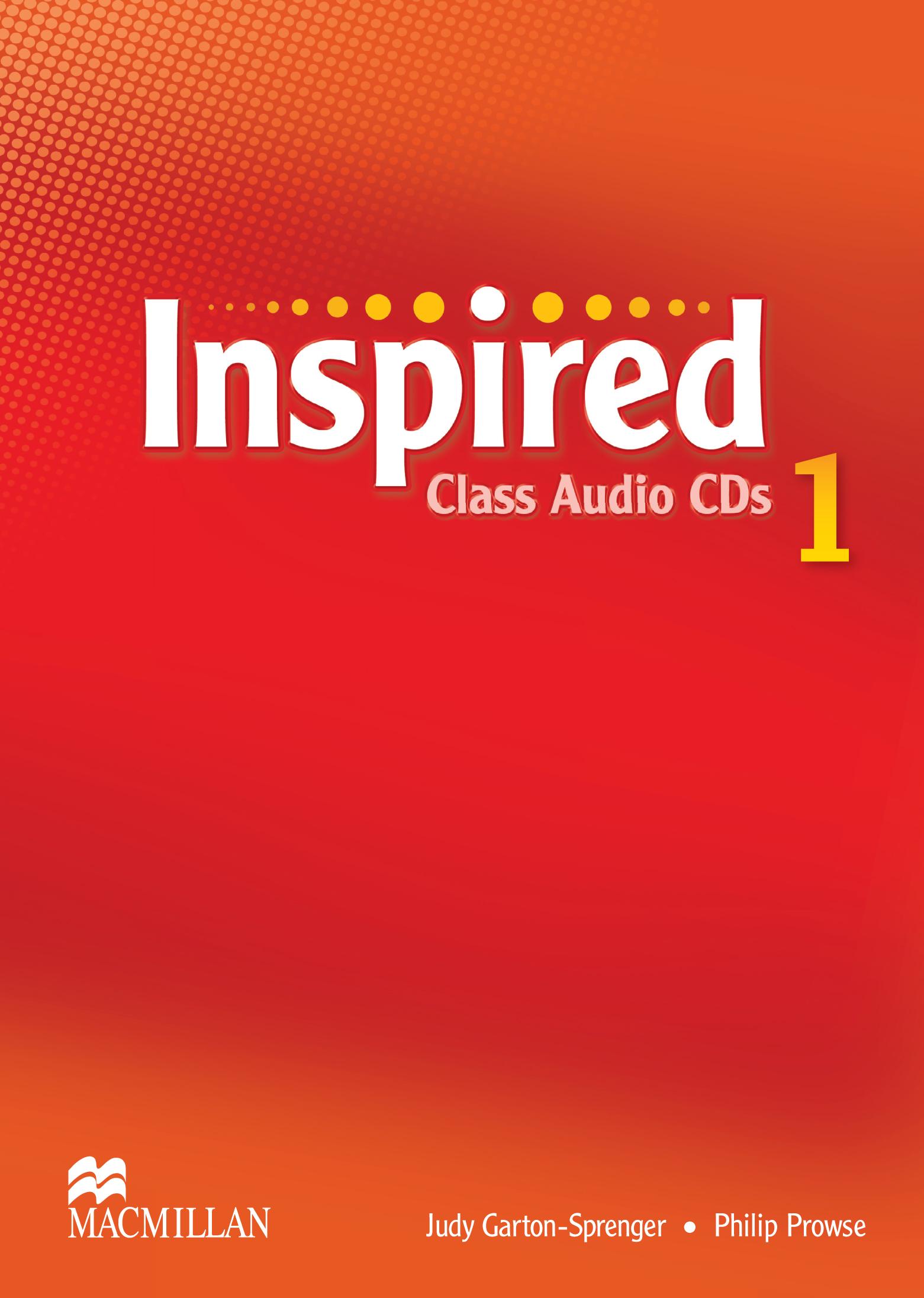 Inspired 1 Class Audio CDs