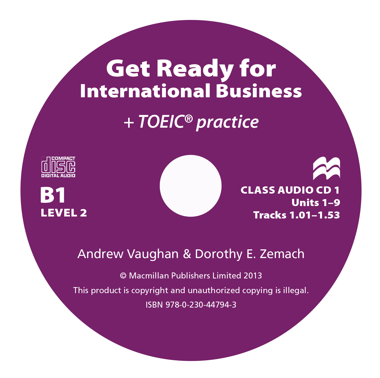 Get Ready For International Business 2 Class Audio CD TOEIC