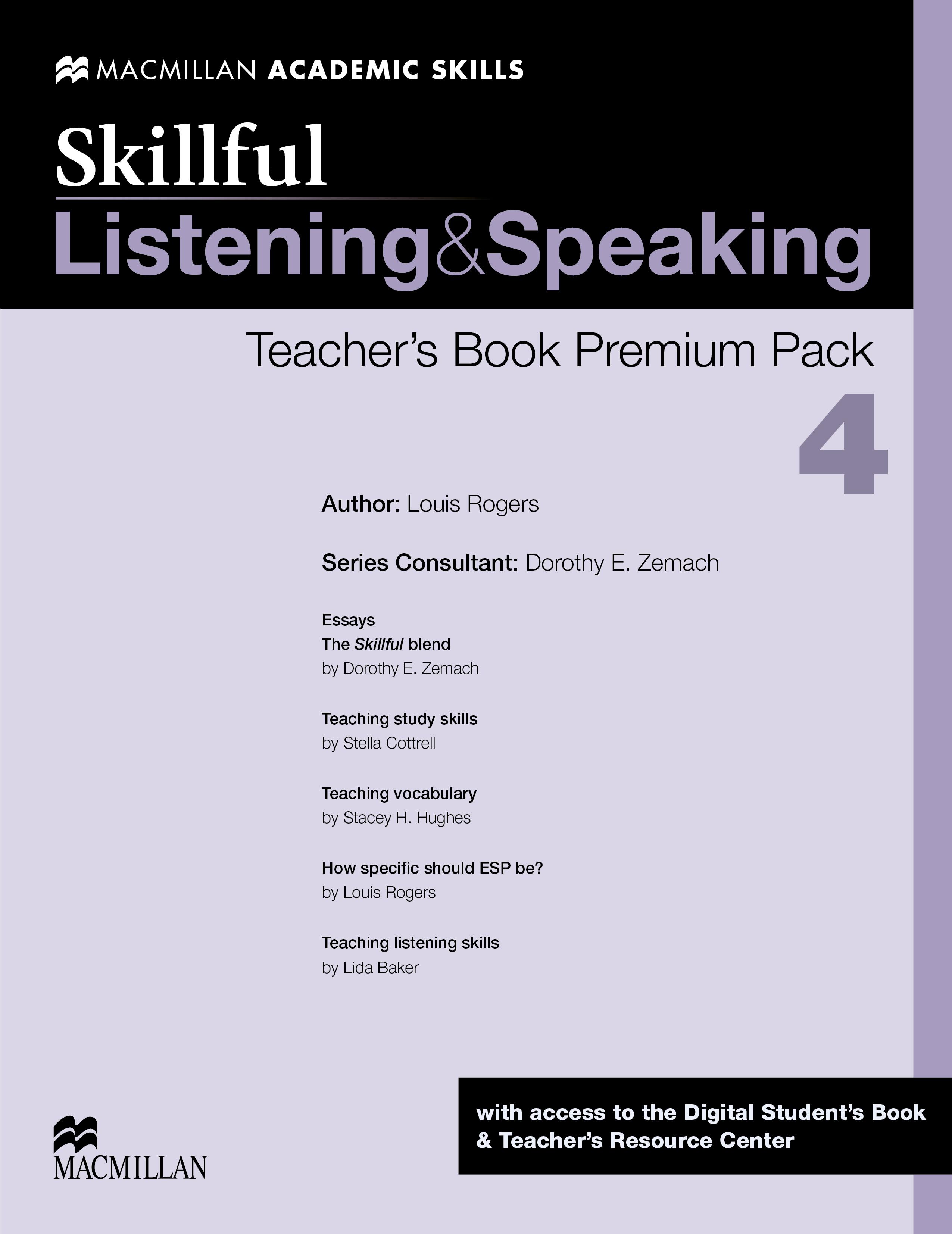Skillful Level 4 Listening & Speaking Teacher