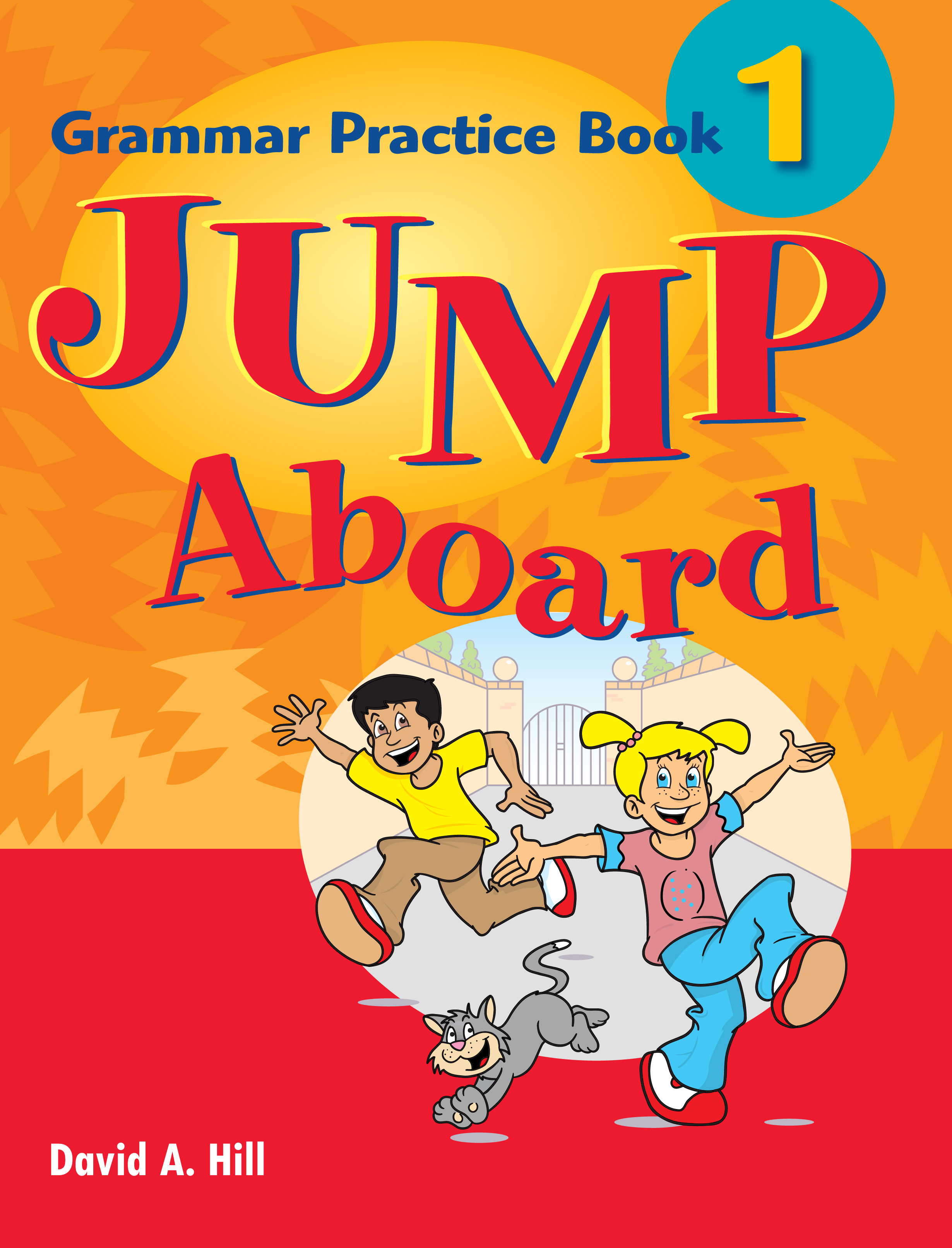 Students 1 jump book aboard