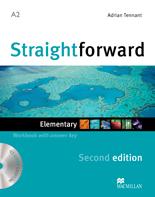 Straightforward Second Edition Elementary Workbook + CD with Key