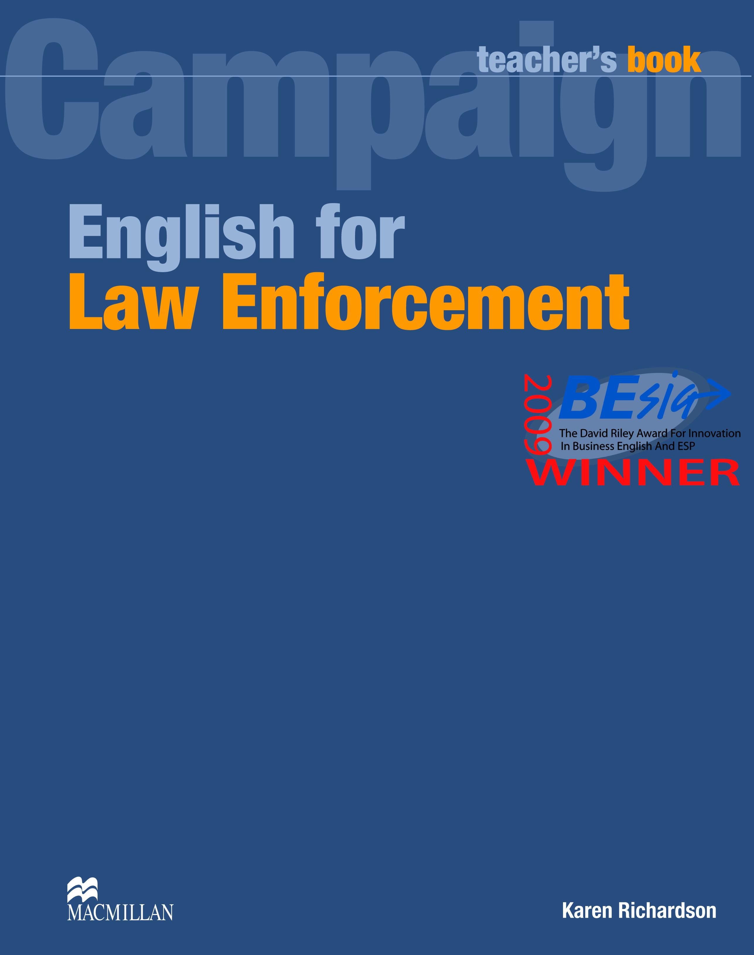 English for Law Enforcement Teacher
