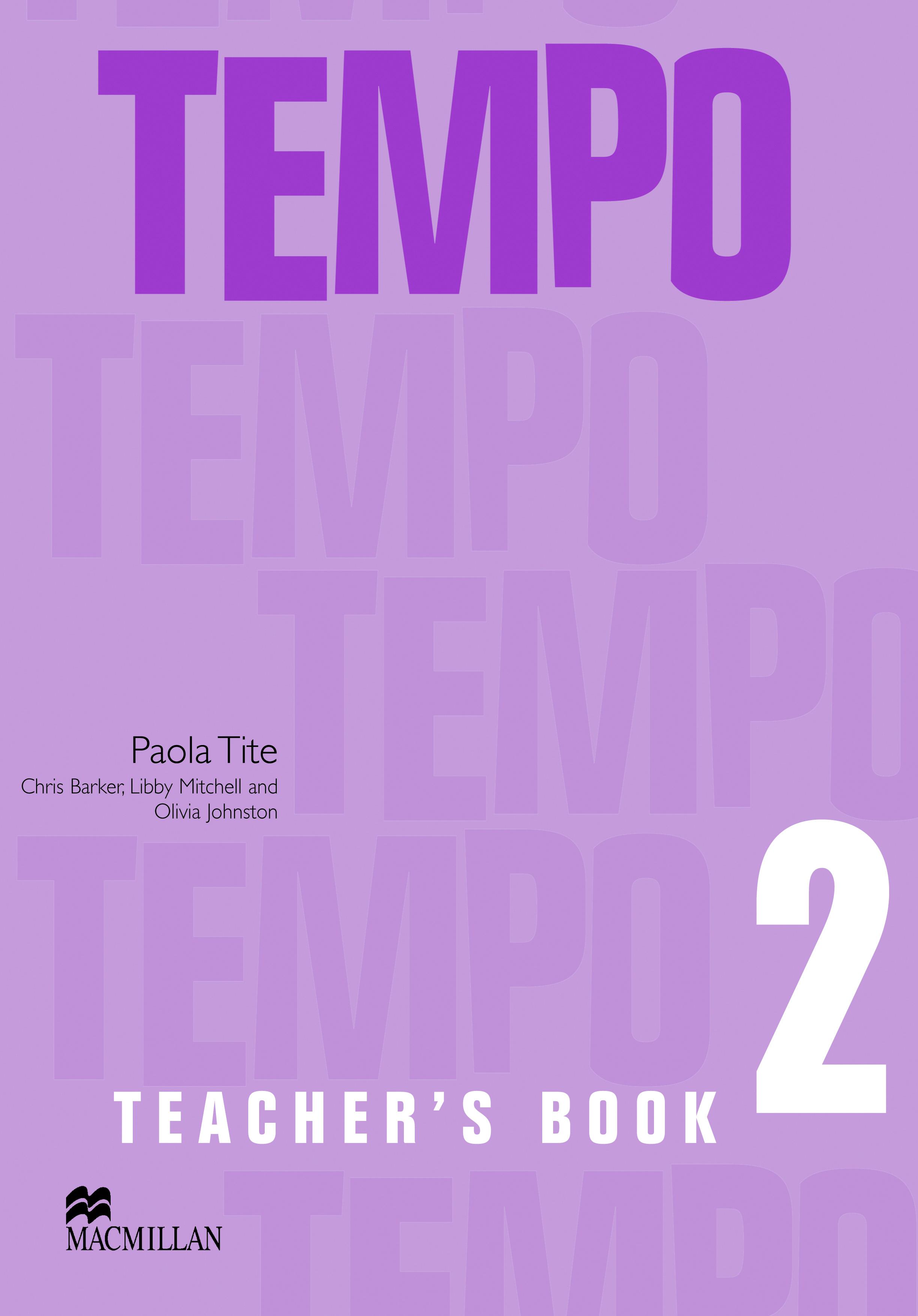 Tempo 2 Teacher